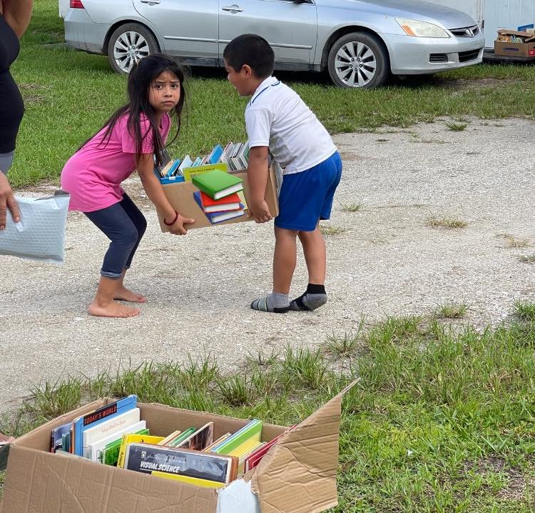 North Elementary School delivers books to students for summer reading enjoyment.