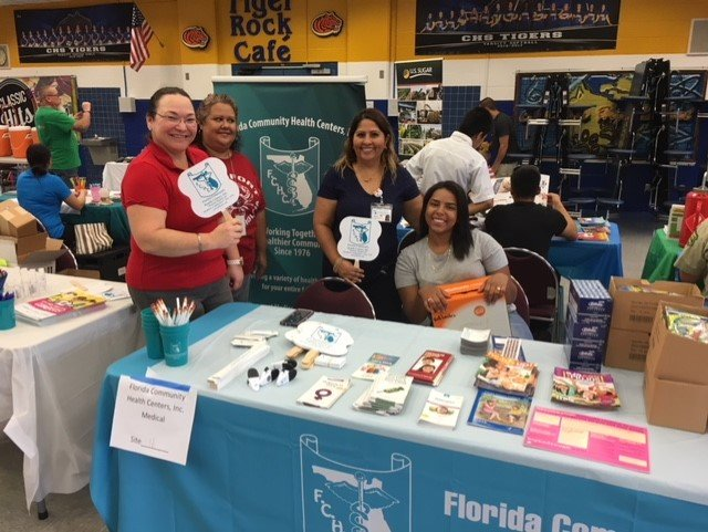 FCHC staff at a 2018 Clewiston Back to School event in 2018.