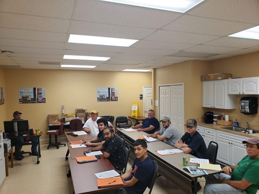 Hendry Workforce Development students attend opening HVAC training class in LaBelle.