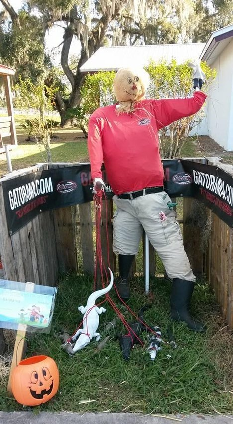 Past entries for the Scarecrows on the Wharf contest have been very creative like this one from Gatorama.