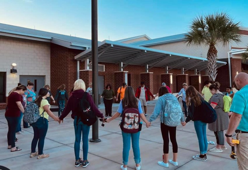 MOORE HAVEN — Some Glades County students came together at their school's flagpole on Wednesday, Sept. 22, to participate in See You at the Pole™, an event that began with a small group of teenagers in Burelson, Texas back in early 1990.