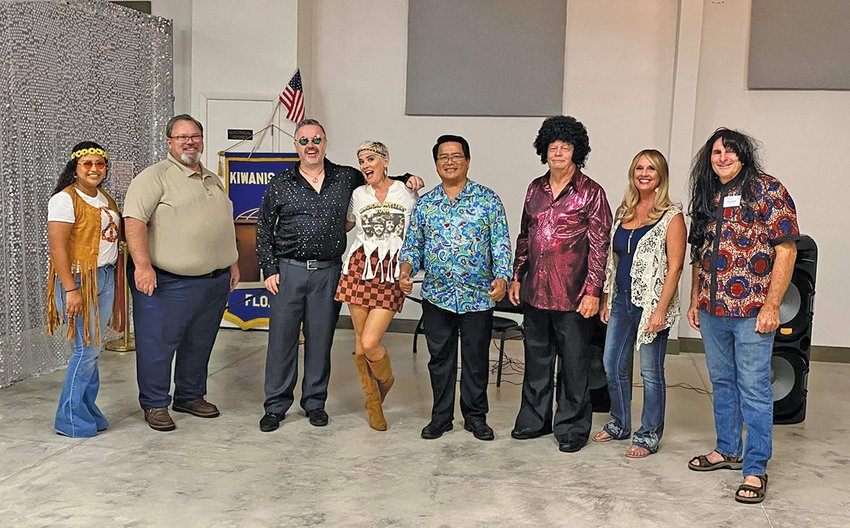 Pictured are Kiwanis Club officers and board members with Lt Gov Richard Schlitt.