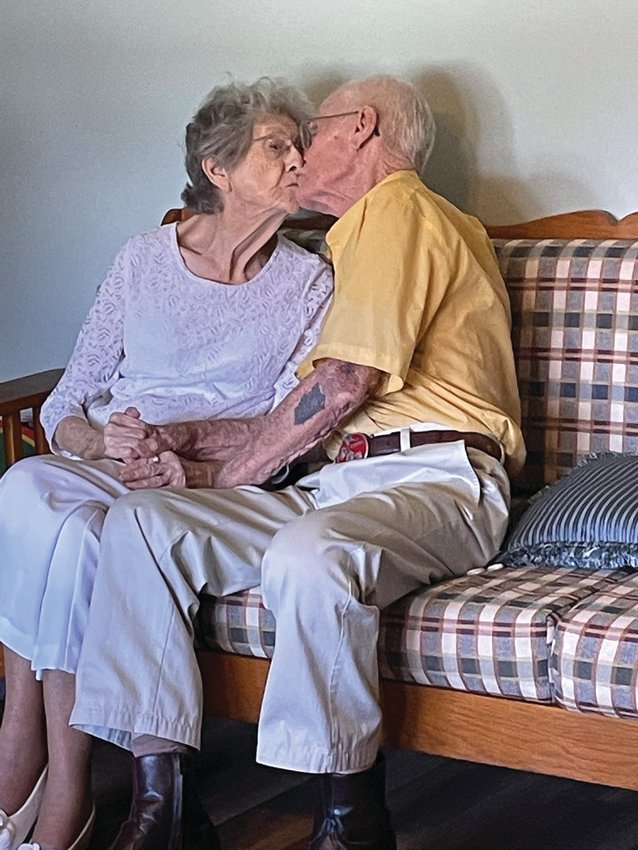 Wanda and Jay Wigginton celebrate 75 years of marriage with a  renewing of their wedding vows.