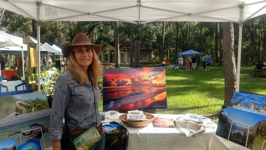 SEBRING — Art vendor Cindy Rose of Cindy Rose Nature Photography at the annual Civilian Conservation Corps Festival in November of 2020.