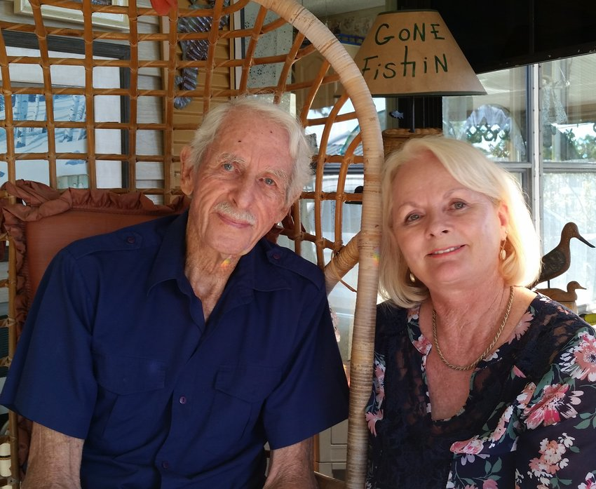 Susan Williams and her father.