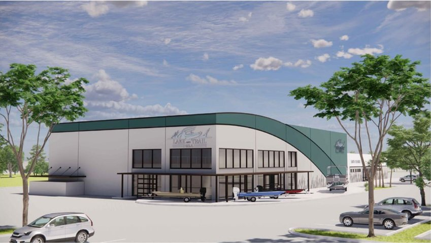 Lake and Trail architectural rendering