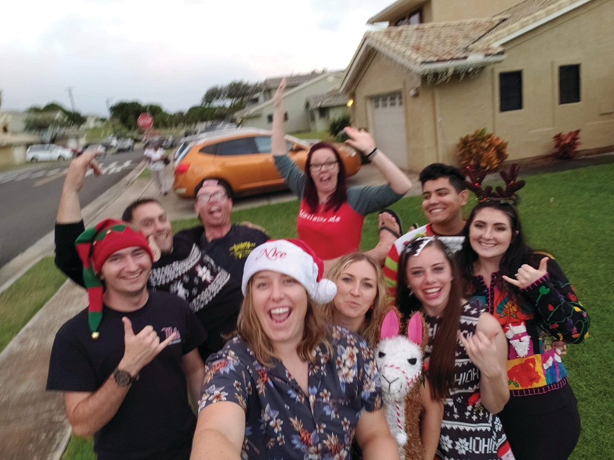 With people coming and going all the time, you have to band together and make new family sometimes, said Dillon Jones. This is Christmas in Hawaii at the Ming household in 2019.