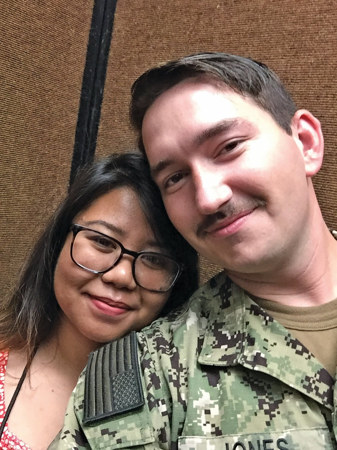 Veteran Dillon Jones and his girlfriend Mary Maquera now live in Hawaii, where Mary grew up.