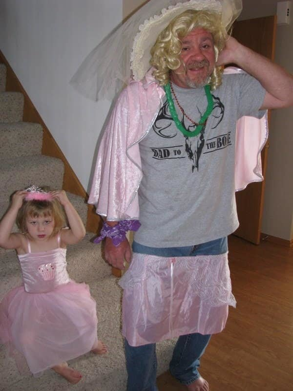 Granpa Steve couldn't say 'no' when granddaughter Kaelyn Wieland of West Des Moines, Iowa, wanted to play dress up. She even got Granpa Steve to dance with her!