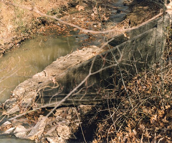 Creek where Amber's body was found.