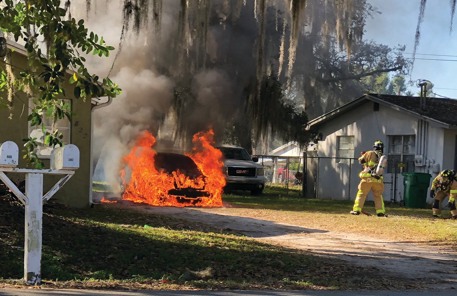OCFR assisted OCFD Sunday morning, Jan. 10 at the scene of a vehicle fire in front of a residence on Southeast Eighth Street. The fire was extinguished, no injuries occurred, and the building was not damaged.