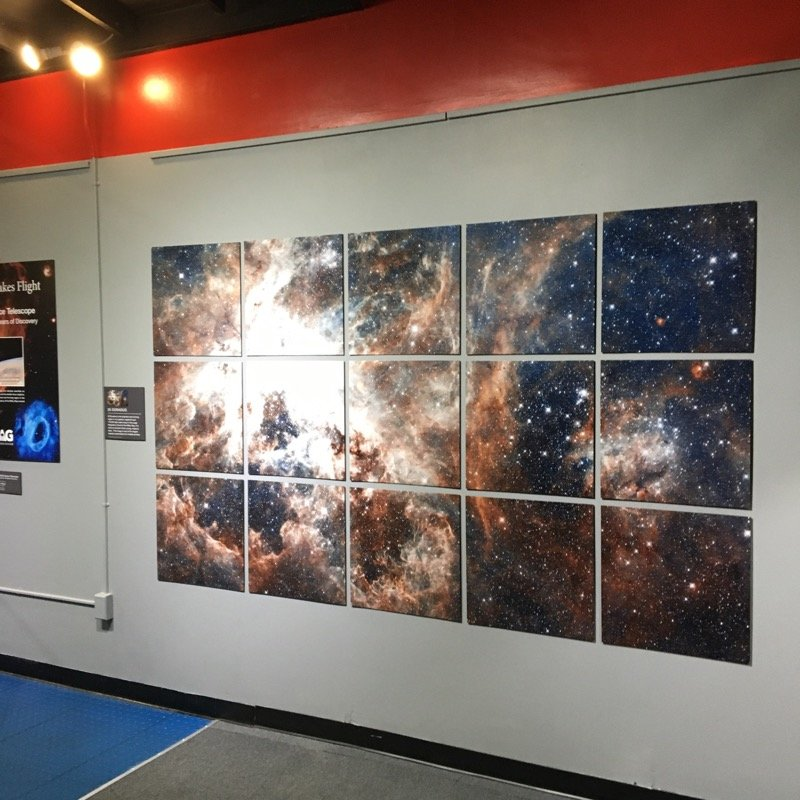 "As part of its ""Inspiration Takes Flight"" programs, exhibits, and events, the IMAG is presenting a series of spacious murals of constellations, nebulas, supernovas, star clusters, and more in its gallery."