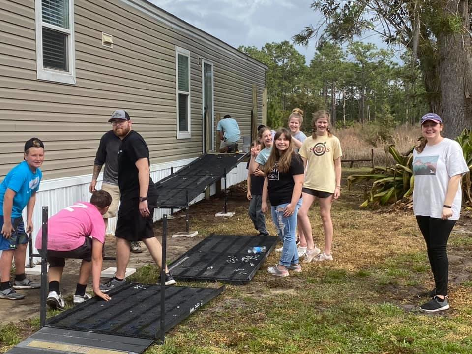The metal for this ramp was donated by someone from Belle Glade.