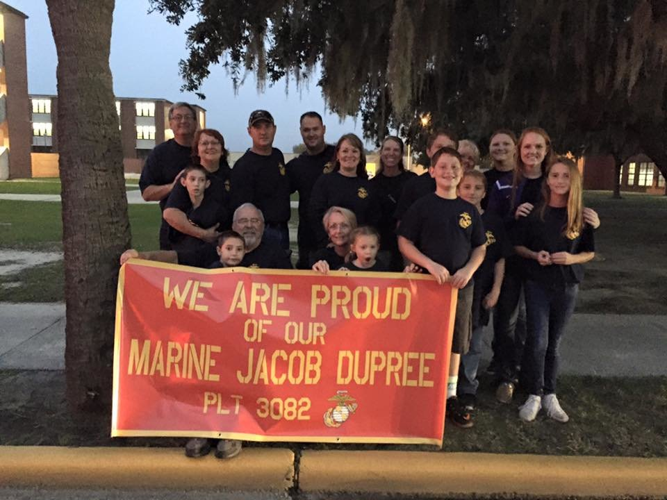 Veteran Jacob DuPree has always had a very supportive family.