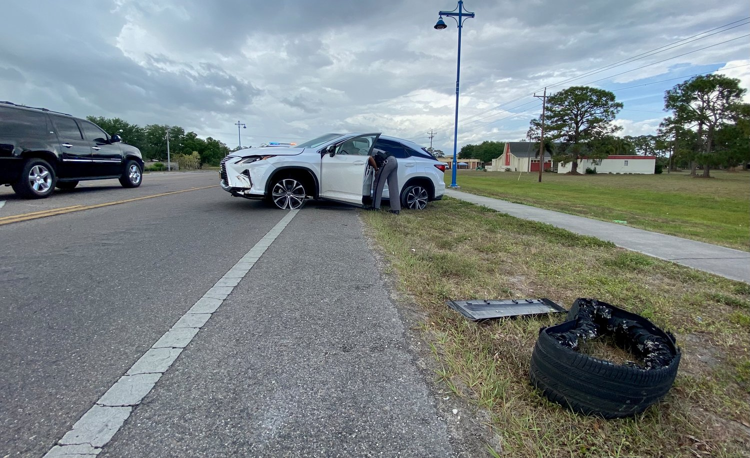 Deputies recovered a stolen white Lexus SUV following a pursuit in Immokalee on Wednesday, March 31.