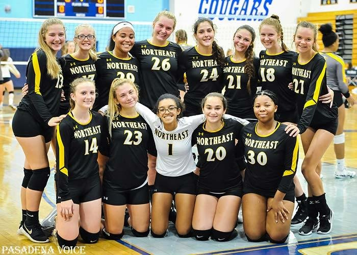 Both the Northeast varsity and JV volleyball teams defeated Chesapeake on September 4.