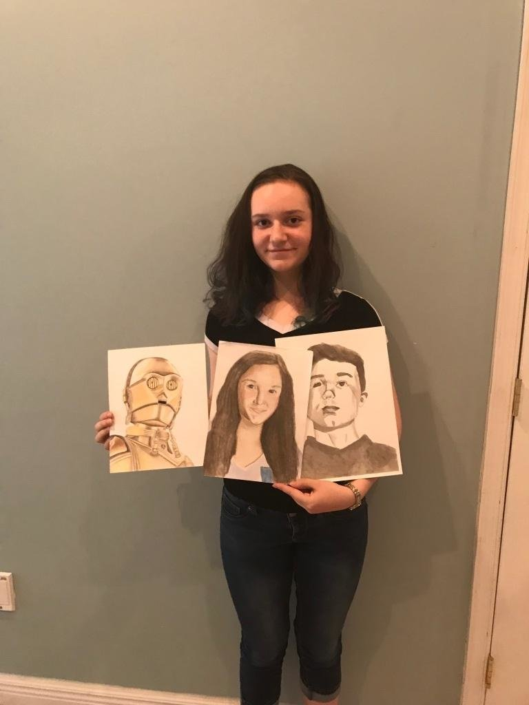 Heather Casto, a 15-year-old rising sophomore from Pasadena, will show off a variety of media and subject matter with the work she will exhibit as the Mountain Road Library's Artist of the Month in September.