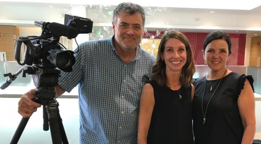 "(L-R) Writer and director Robert Ferrier; Julie Zissimopoulos, associate director of the Schaeffer Center for Health Policy and Economics at the University of Southern California; and producer Daphne Glover Ferrier worked together on ""SPENT: The Hidden Cost of Dementia."""