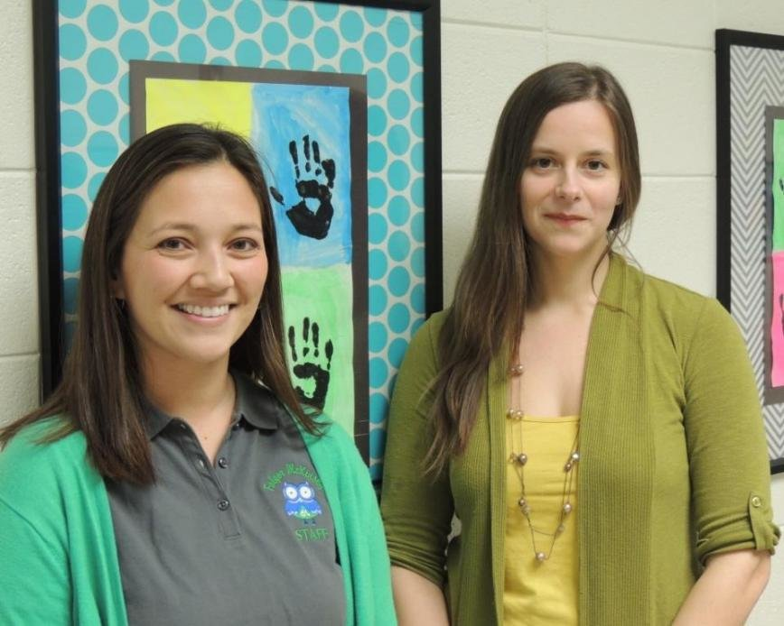 Folger McKinsey fifth-grade teacher Stacey Coppock (left) and Jones Elementary music educator Charlene Beyerlein are among the Teacher of the Year semifinalists.