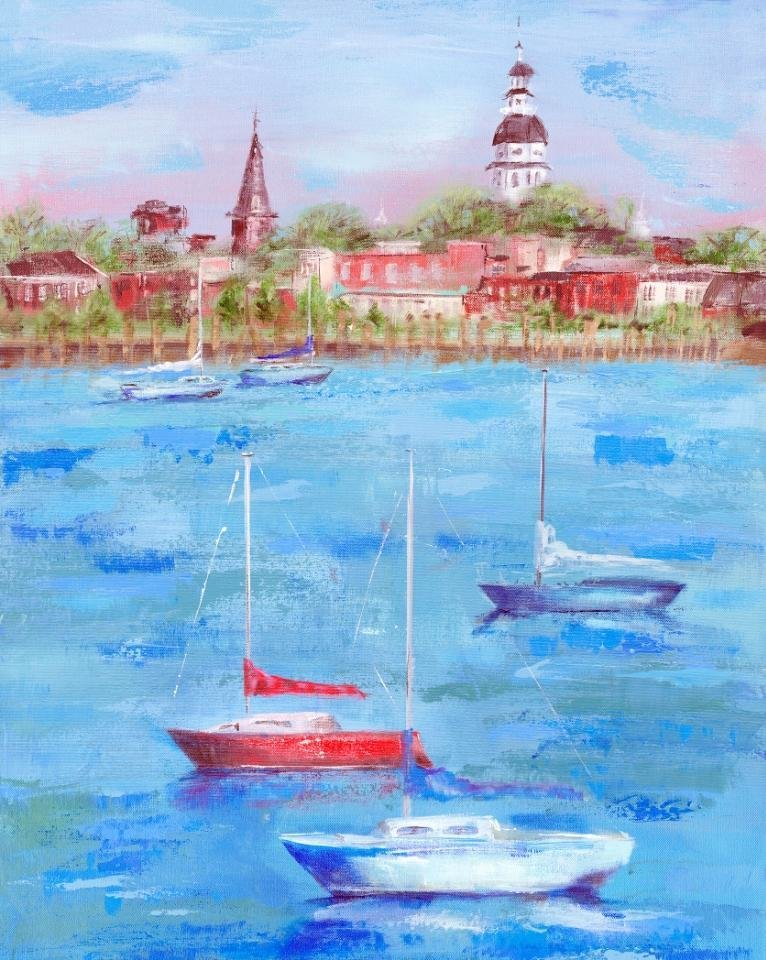"Annapolis Summer"" is a piece by Katherine Carney."
