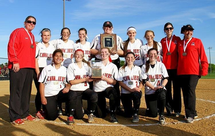 The Spalding softball team capped the season with a 3-1 win over Mt. de Sales in the Interscholastic Athletic Association of Maryland A Conference championship. The title is the second in a row for the Cavaliers.