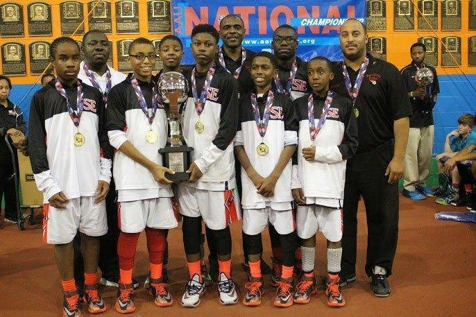 The Severn Elite 6th-grade boys team went 8-0 and won the Amateur Athletic Union (AAU) DII National Championship this August.