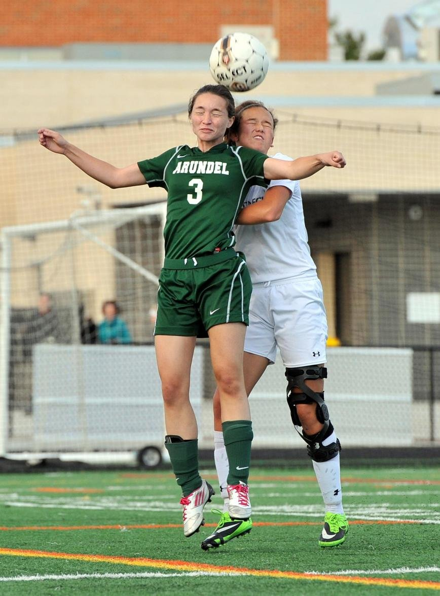 The defense of Arundel's Kelly Cottington on Broadneck's Bri Harris was a major factor in the Wildcats' 1-0 victory.