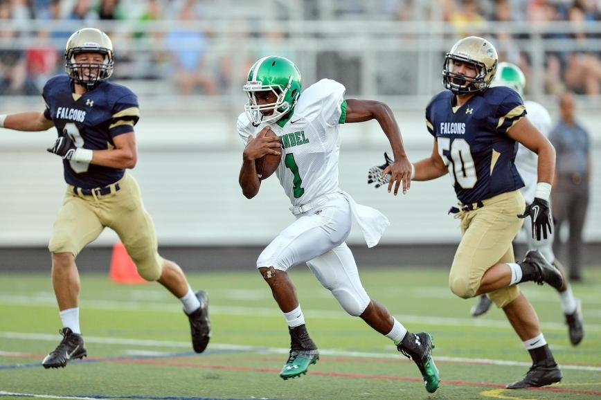 Senior wide receiver Don Keith scored the first touchdown of Arundel's 2013 football season, slicing through the Severna Park secondary for a 32-yard score and a 6-0 lead in the first quarter of the Wildcats' 38-14 victory over the Falcons.