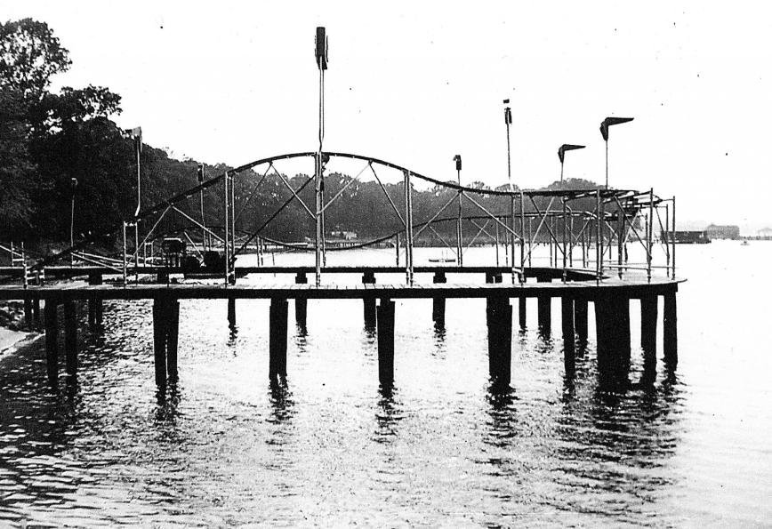 A wooden roller coaster once dipped and dove over the waters of the Magothy at Mago Vista Beach, a tourist attraction that also featured an alligator pond, an ornate ballroom and dance pavilions.