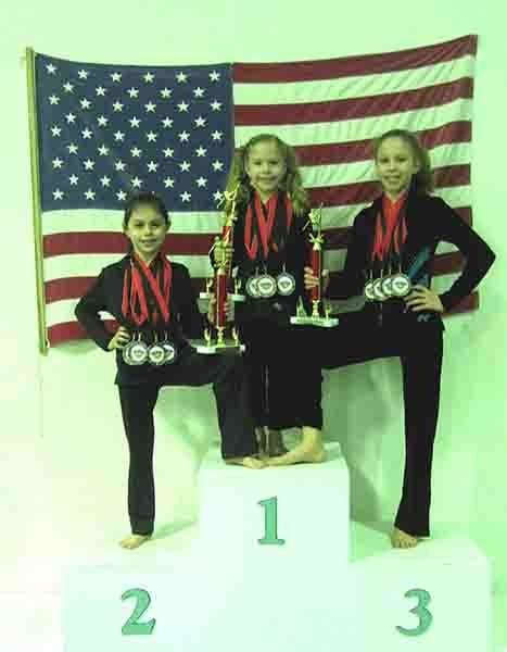 Docksiders' three AA winners: Rebecca Widmer, Grace Pimpo and Abigail Pimpo.