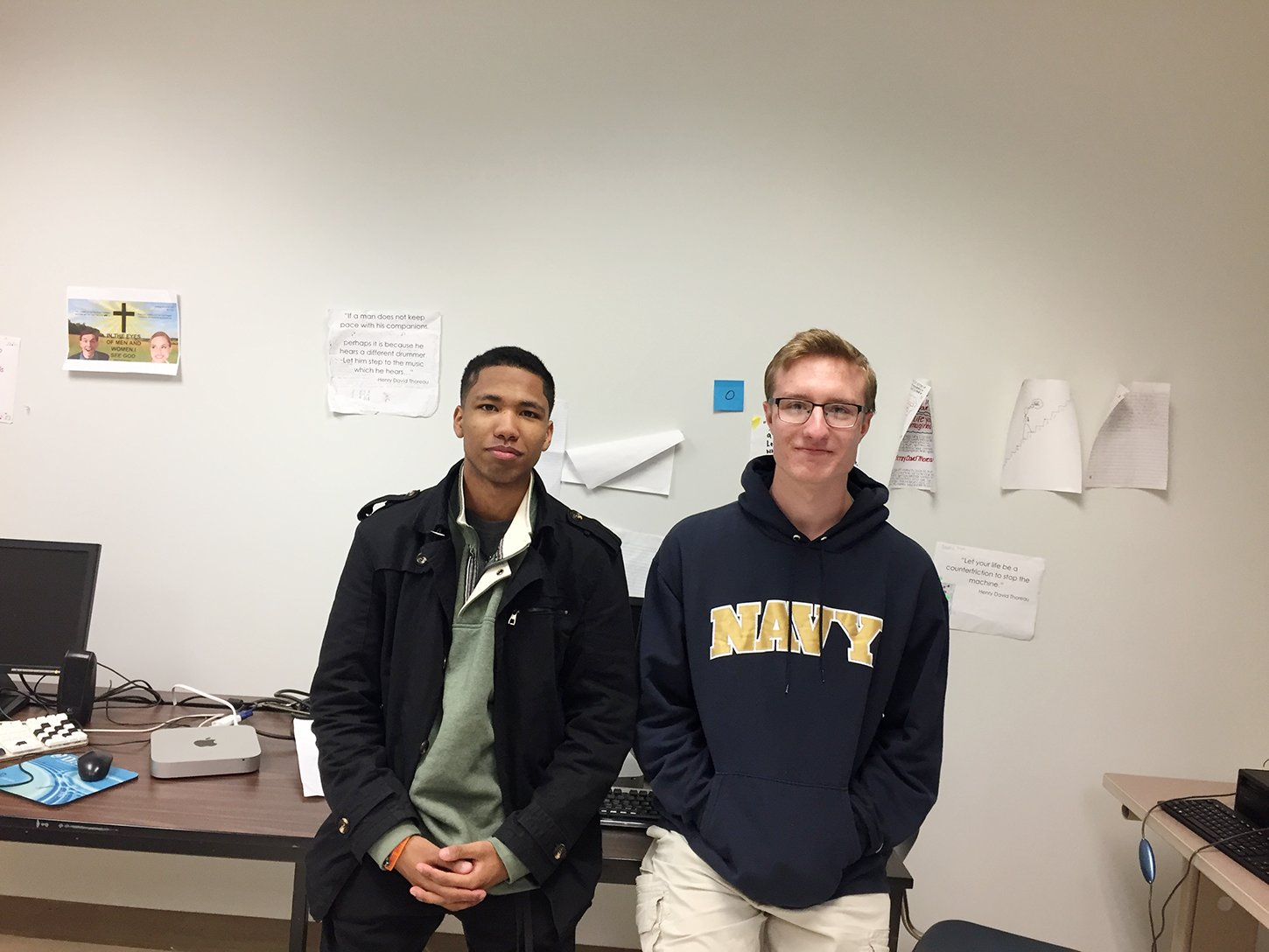 Jerrel Barnes (left) and Paul Cosby created a short film about an aspiring magician whose family tragedy leads him down a dark path.