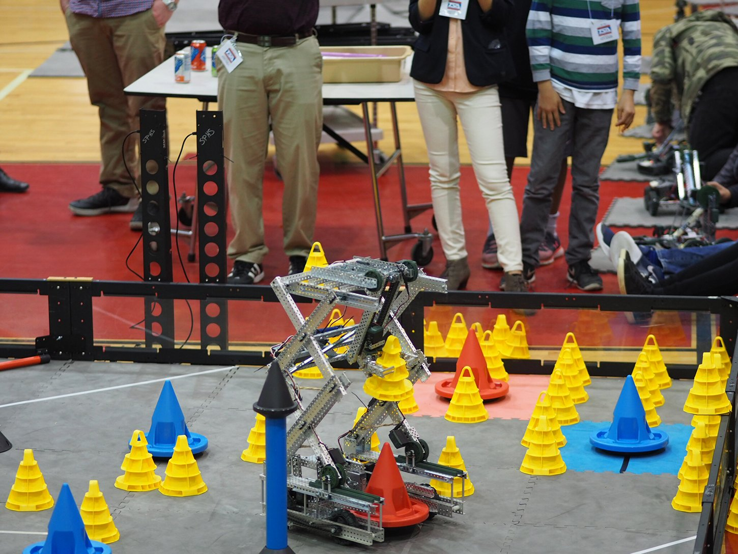 The club's competing robot, named Do You Even Lift, advanced to the national TSA competition last year.