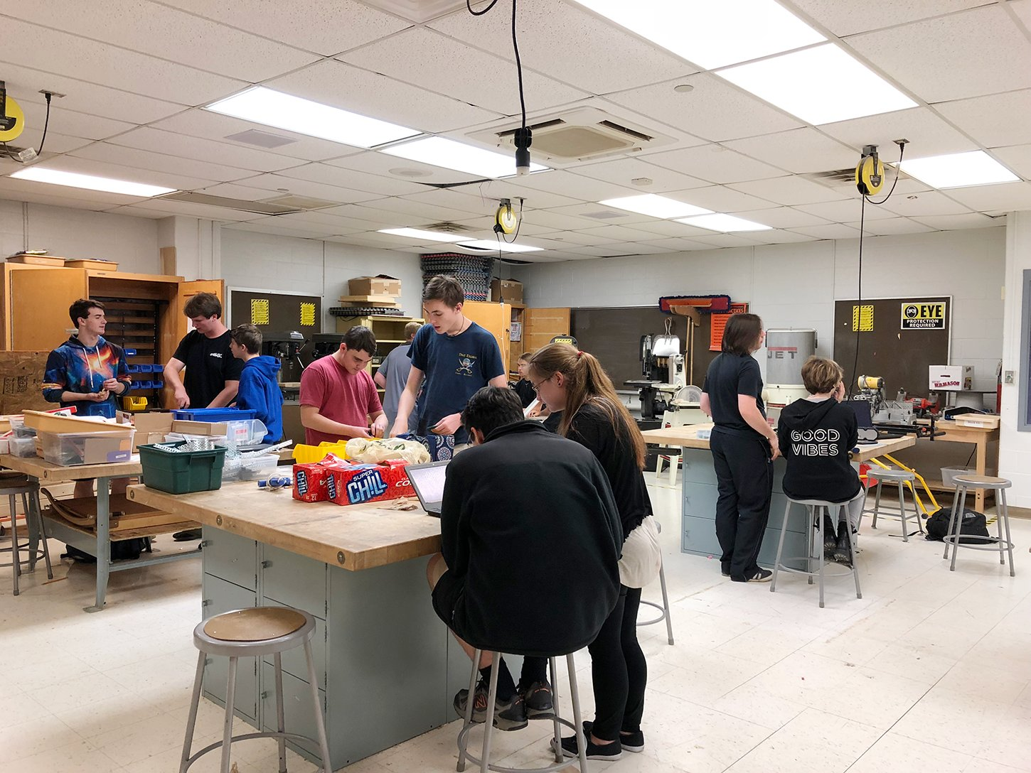 Broadneck High School's robotics club and Technical Student Association (TSA) include more than 60 members.