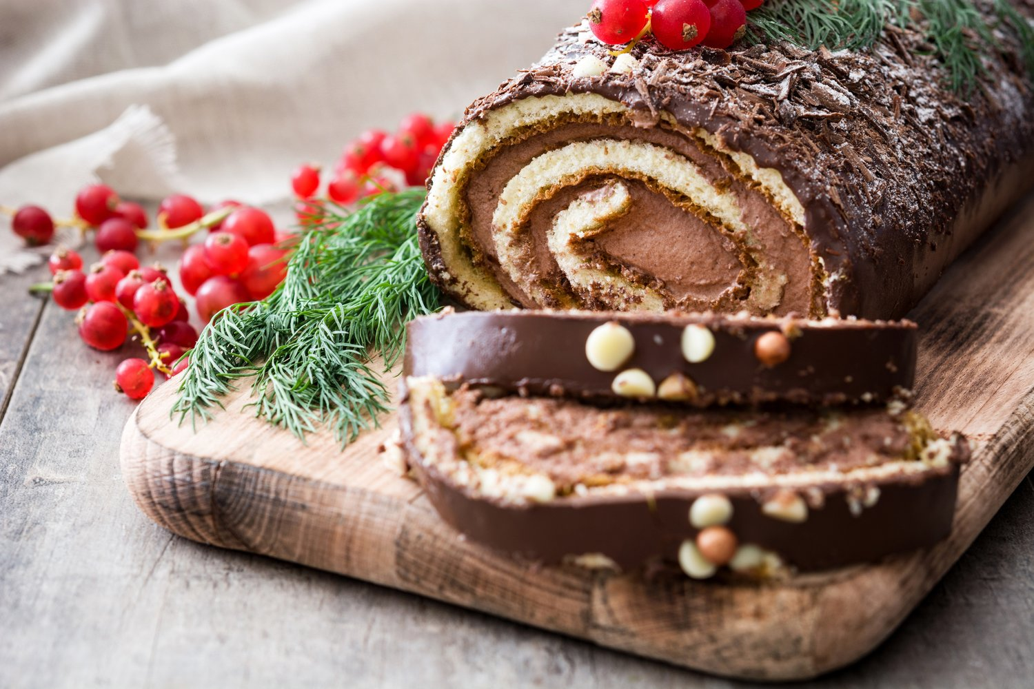 Celebrate the season with peppermint cheesecake, yule logs or other treats made by local restaurants and bakeries.