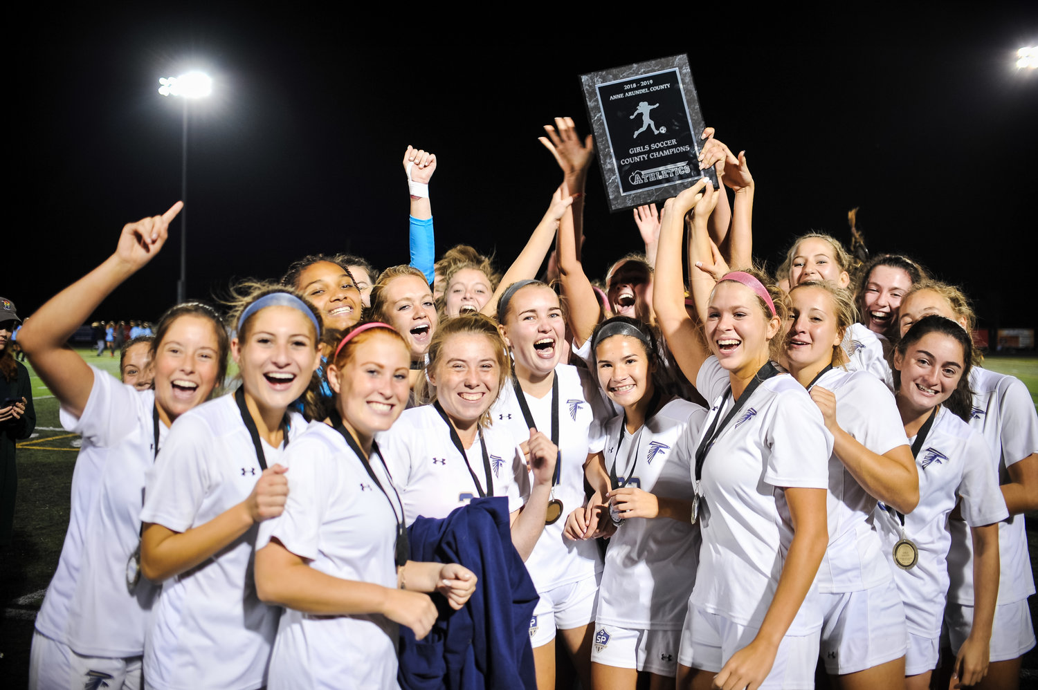 The Falcons (14-1) blanked South River for their 13th shutout of the season and won the county championship over South River on penalties, 0-0 (4-3).