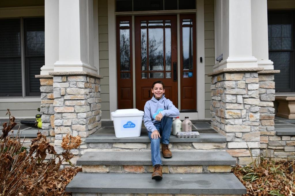 Brandon Taub started Flying Cow Organics to deliver milk, eggs and yogurt to households in Severna Park and Arnold.
