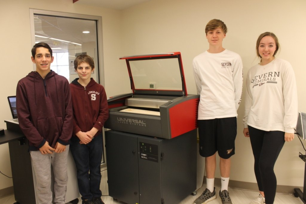 Ryan Money, Aaron Tiller, Jackson Gunhus and Ashley Reiter are some of the Severn School students creating and funding their own products and services.