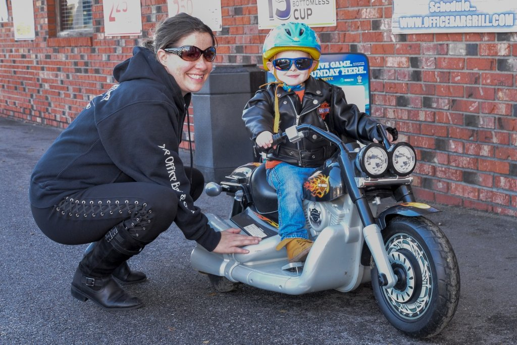 Riders of all ages were invited to The Office Bar & Grill's Toys For The Dena Run, which brings Christmas to families in need.