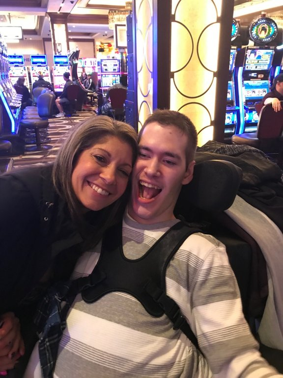 Krissie Fischer and her son, Eddie Fischer, who is a quadriplegic who also suffers from cerebral palsy and other serious ailments, have appreciated the support they have had from the Pasadena community.