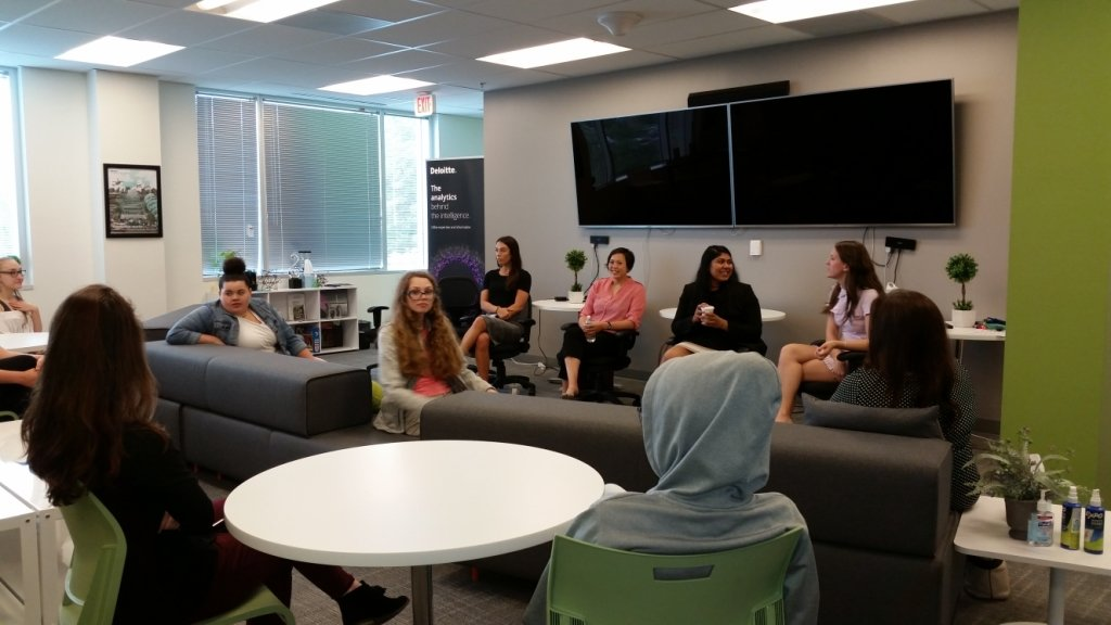 Last year, 10 students from Chesapeake High School participated in the inaugural Cybersecurity Day For Girls at the Deloitte office in Annapolis.