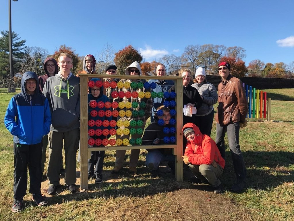 Jack Whittington, a senior at Severna Park High School, completed his Eagle Scout project by installing two structures at Pasadena Elementary School's sensory garden.