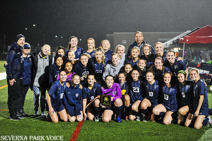 The Falcons claimed the program's first region championship since 2011 with a penalty-shootout win over Broadneck on November 5.