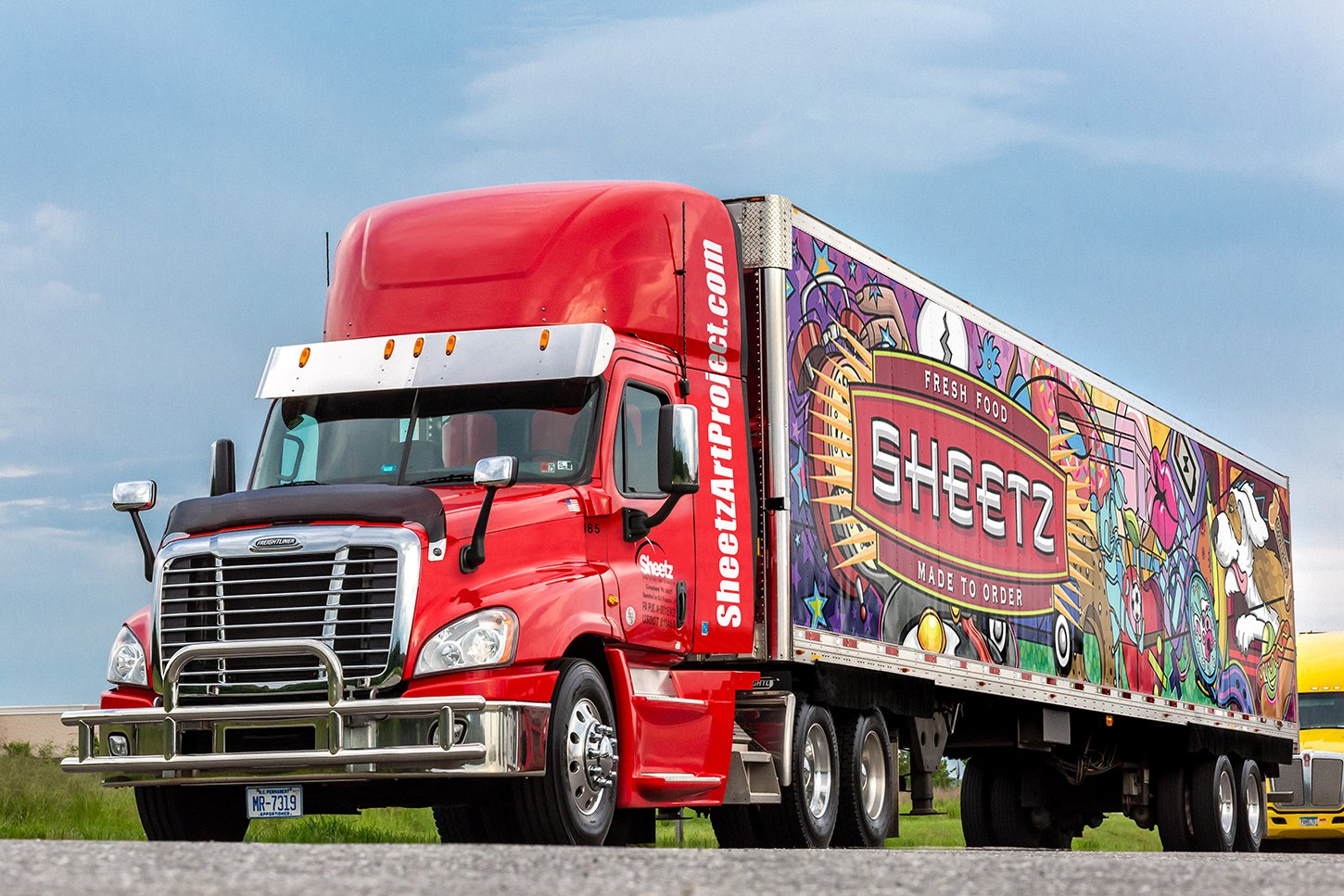 "With his bold ""pop-op"" art, Chris Davenport was recently chosen as one of 11 artists to redesign the next generation of fleet trailers for Sheetz."