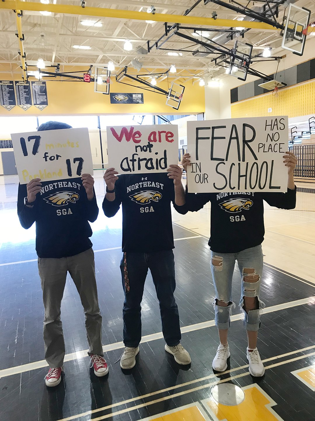 While students across the country walked out of their schools on March 14 to honor the 17 victims of the school shooting in Parkland, Florida, one month prior, Northeast students had a walk-in.