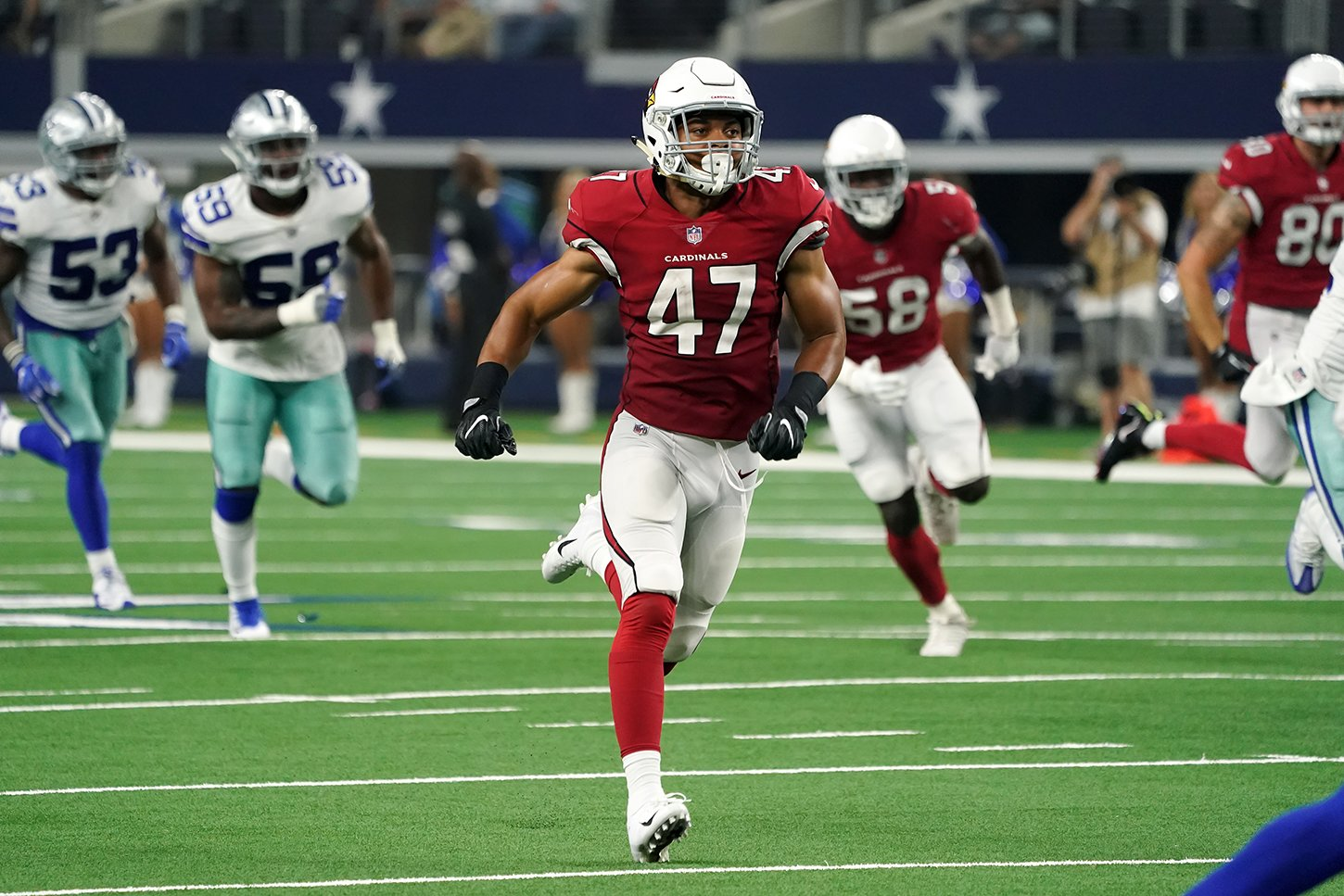 Displaying special athletic talent in August was Zeke Turner, who made the Arizona Cardinals football roster as an undrafted free agent.