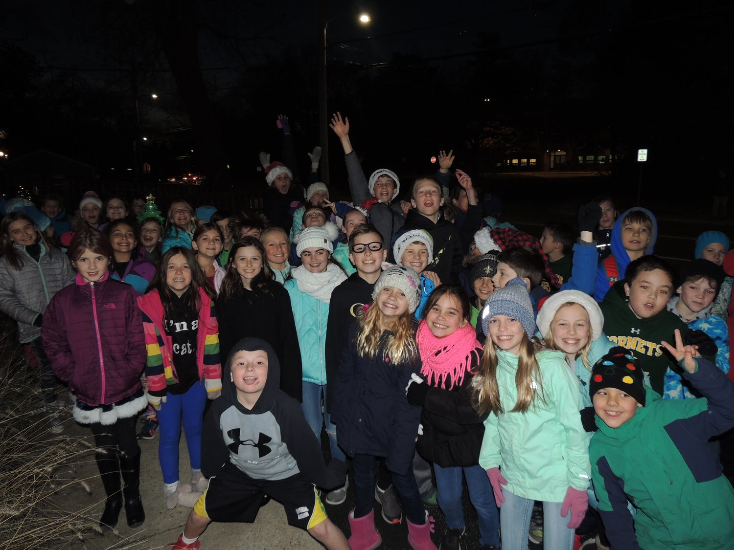 The chorus from Severna Park Elementary couldn't wait to fill the crowd with the holiday spirit at the Greater Severna Park and Arnold Chamber of Commerce's tree lighting.