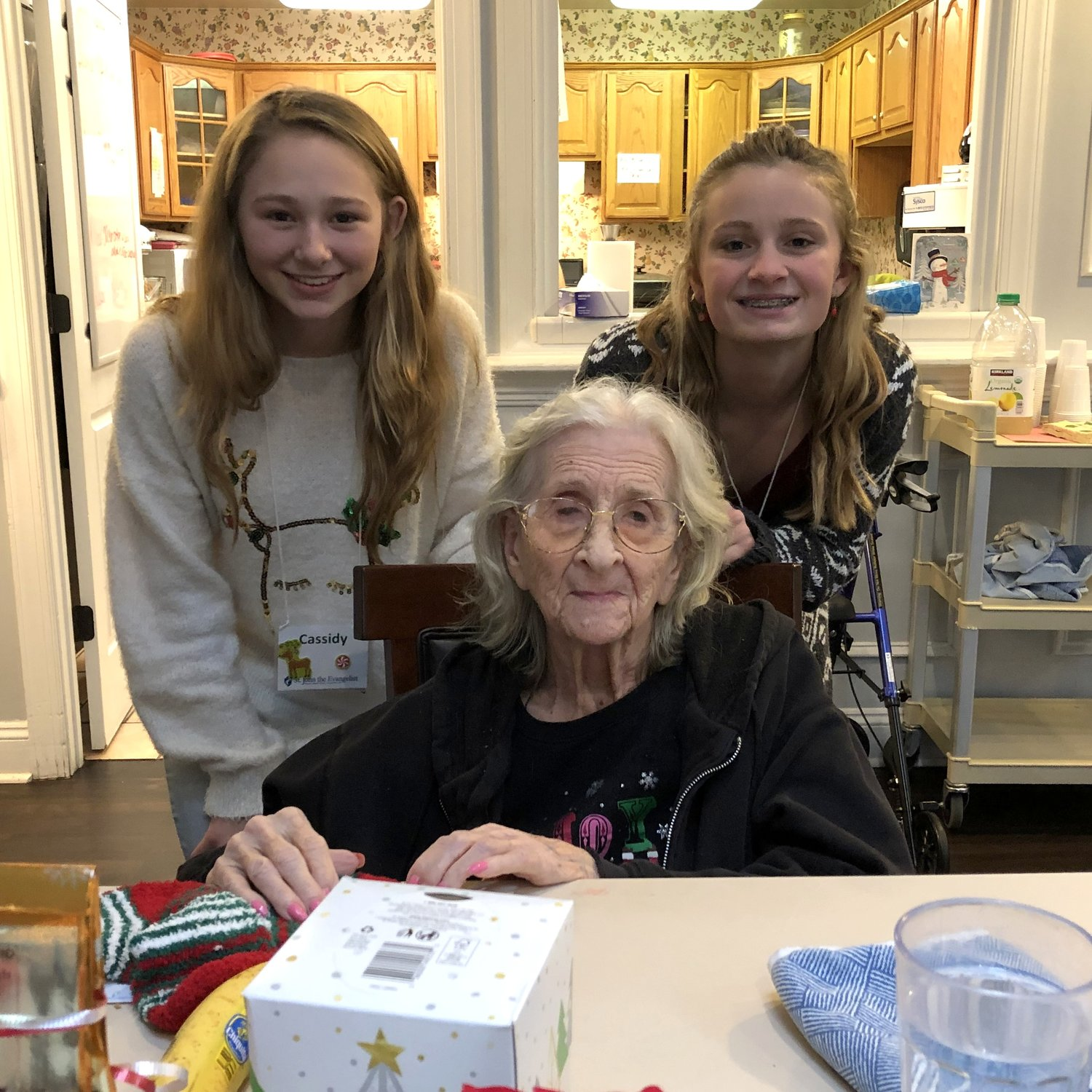 Cassidy Weeks and Kylee Emrich bonded with a PearTree resident.