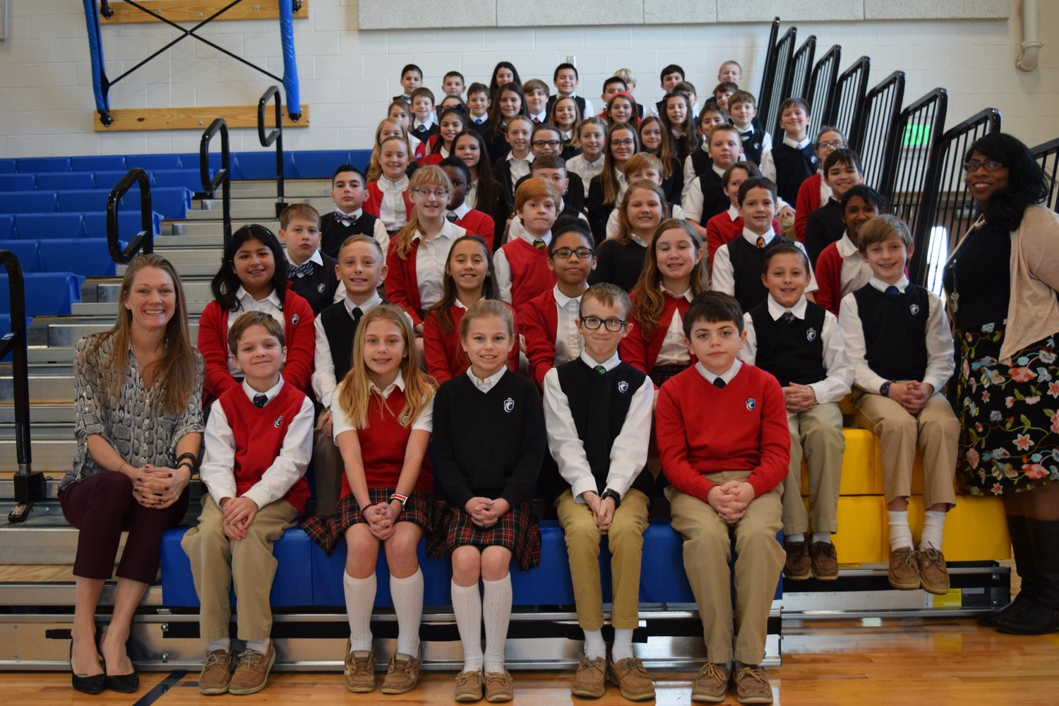 "Students from both fifth-grade classes at St. John the Evangelist School answered this question in honor of Dr. Martin Luther King, Jr. Day: ""What does it mean to be a hero?"""