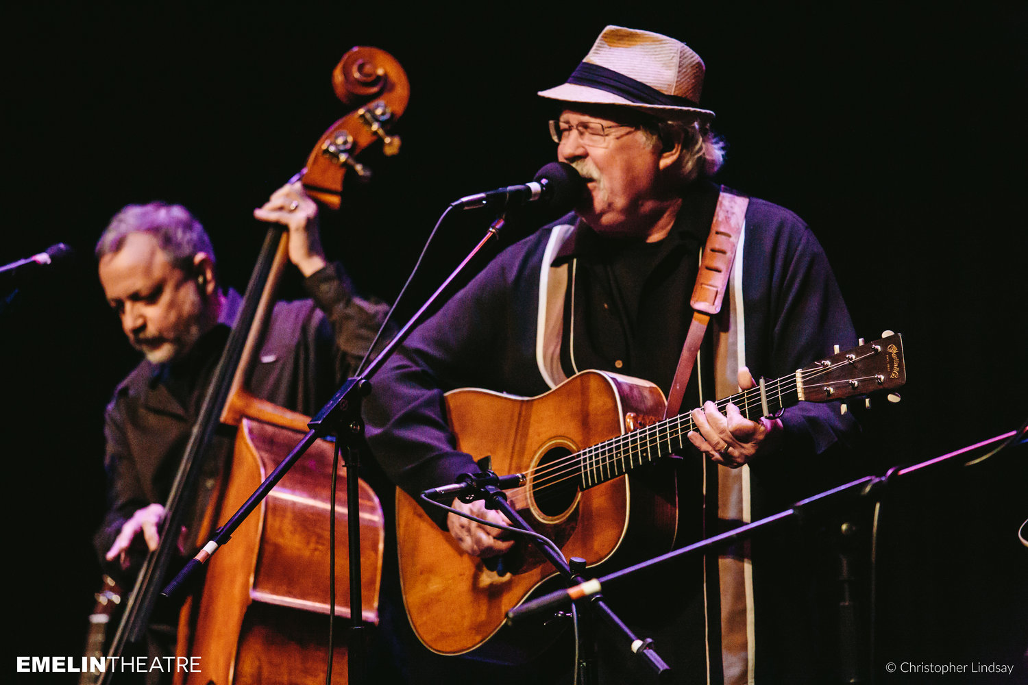 Today, The Seldom Scene features Rickie Simpkins on banjo, Dudley Connell on guitar, Fred Travers on dobro, Lou Reid on mandolin and Ronnie Simpkins on bass.