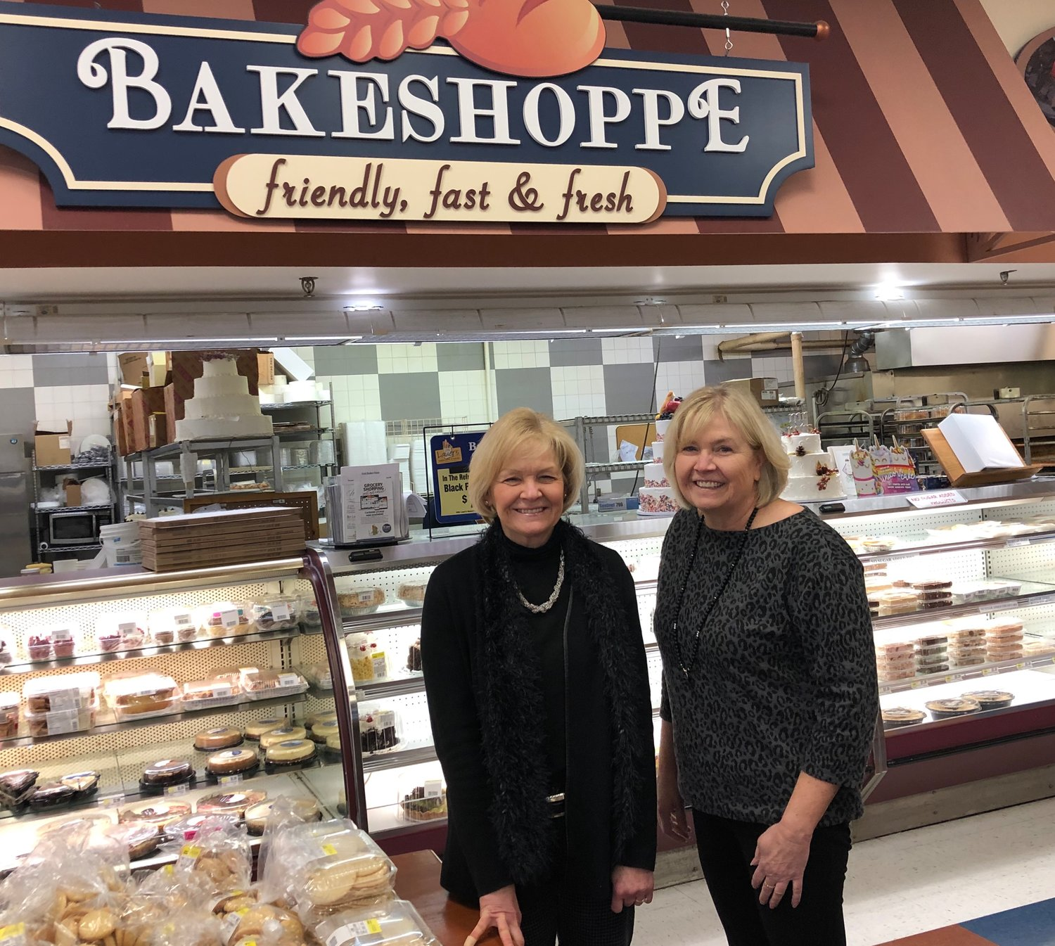 Bernie Snoops (left) and Babie Poyer purchased Lauer's Supermarket & Bakery from their parents in 2006, though they had been running the business since the late '90s. Together they build on the traditions of their parents to keep their focus squarely on the customer.